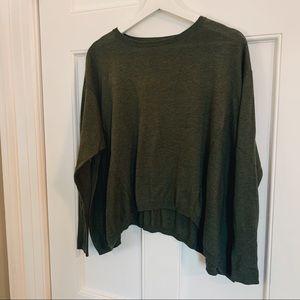 Mossimo Green Slouchy Shirt